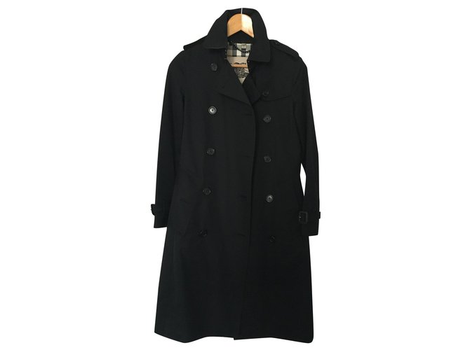 Burberry Trenchcoat Trench coats Cotton Black ref.168440