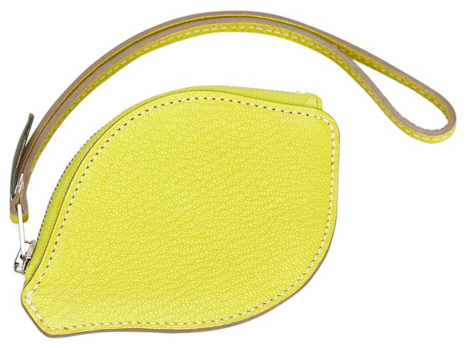 Hermès Hermes Yellow Chevre Mysore Citron Pochette Clutch bags Leather,Goatskin Yellow ref.168506