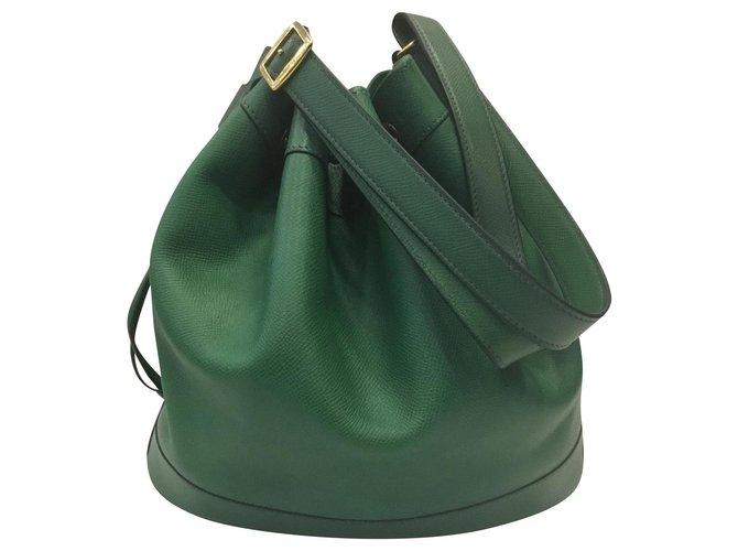 Hermès Market Handbags Leather Green ref.168738