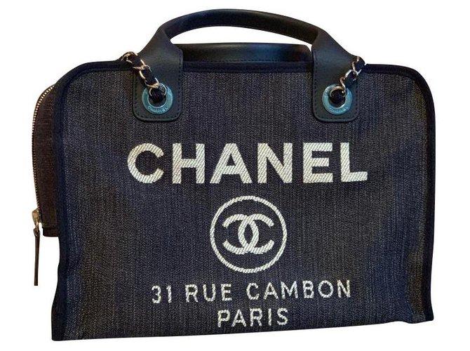 Sacs à main Chanel Chanel Jean Bleu ref.168820