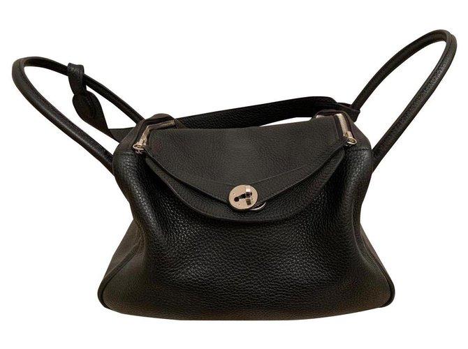 Hermès Hermes Handbags Lambskin Black ref.168828