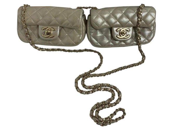 Sacs à main Chanel Chanel Cuir Crème ref.168836