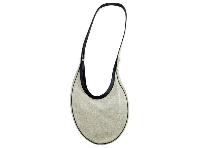 Hermès Hermès Vintage Shoulder Bag Handbags Cloth Grey ref.168863