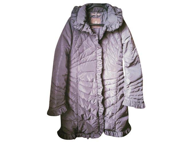 Manteaux Moncler Manteaux, Vêtements d'extérieur Polyester Marron ref.168937