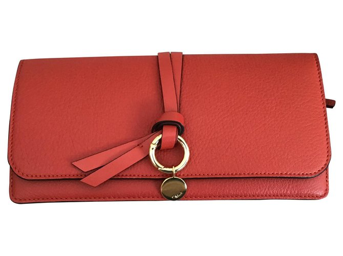 Chloé Alphabet Purses, wallets, cases Leather Pink,Red ref.168982