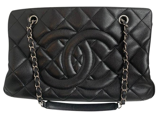 Sacs à main Chanel Chanel Cuir Noir ref.168986