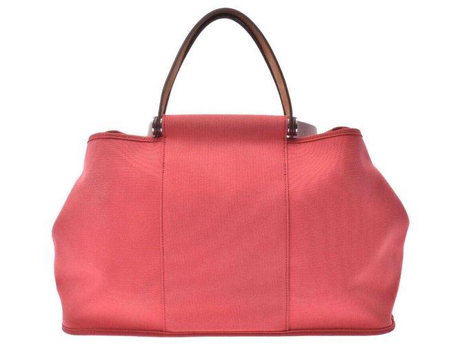 Hermès Hermès Qabac MM Handbags Cloth Red ref.169041