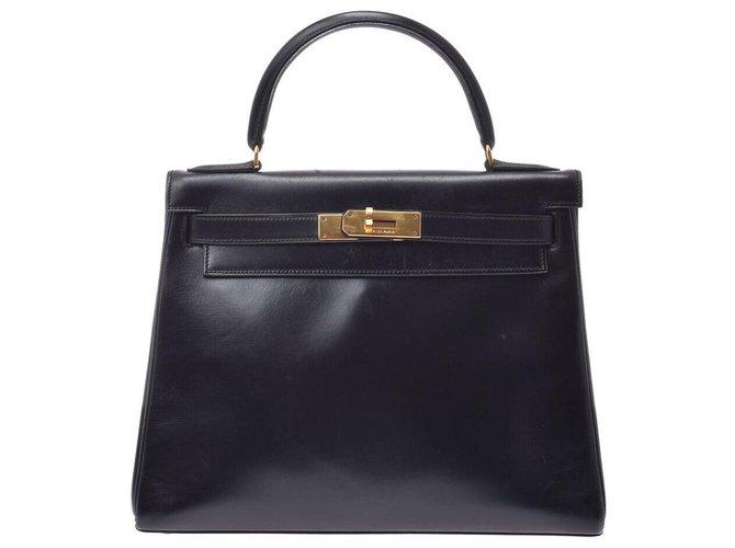 Hermès hermes kelly 28 Handbags Leather Black ref.169082
