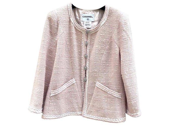 Vestes Chanel Vestes Tweed Rose ref.169097