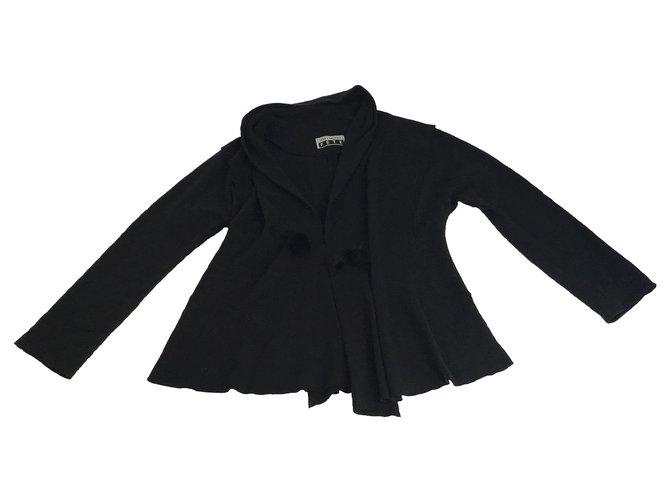Issey Miyake Issey Miyake Raw Edges Asymmetrical Blazer Jacket Jackets Cotton Black ref.169119