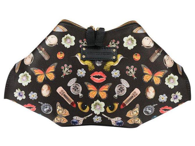 Alexander Mcqueen Clutch bags Clutch bags Silk Black ref.169140