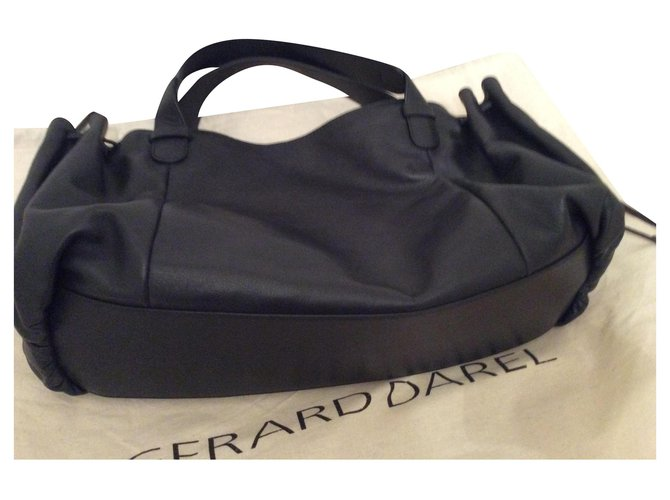 Gerard Darel 24H Handbags Leather Black ref.169144