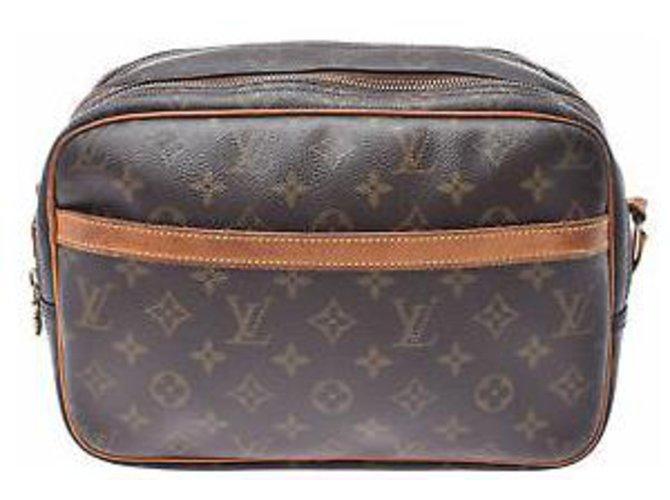Louis Vuitton Louis Vuitton Reporter Handbags Cloth Brown ref.169152