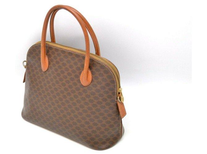 Céline Céline Macadam Hand Bag Handbags Leather Brown ref.169153