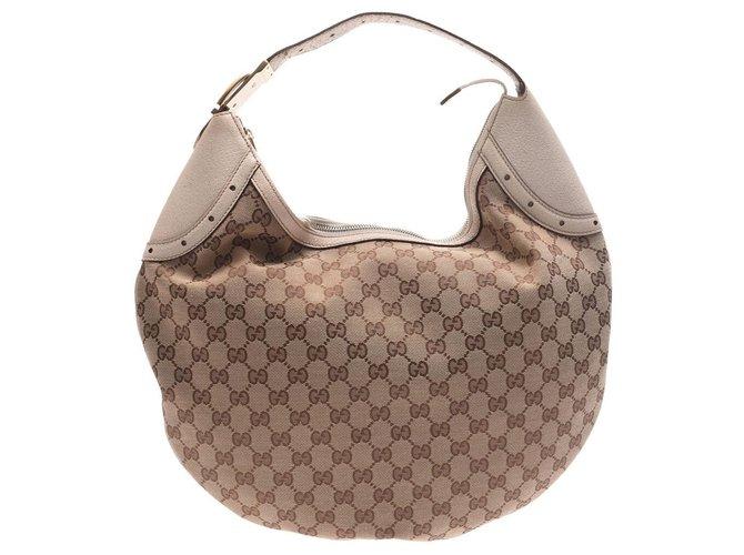 Gucci Gucci handbag Handbags Cloth Beige ref.169159