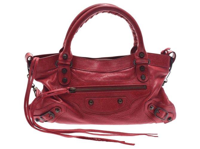 Balenciaga Balenciaga city Handbags Leather Red ref.169160