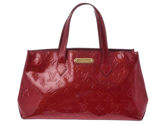 Louis Vuitton Louis Vuitton Vintage handbag Handbags Patent leather Red ref.169161