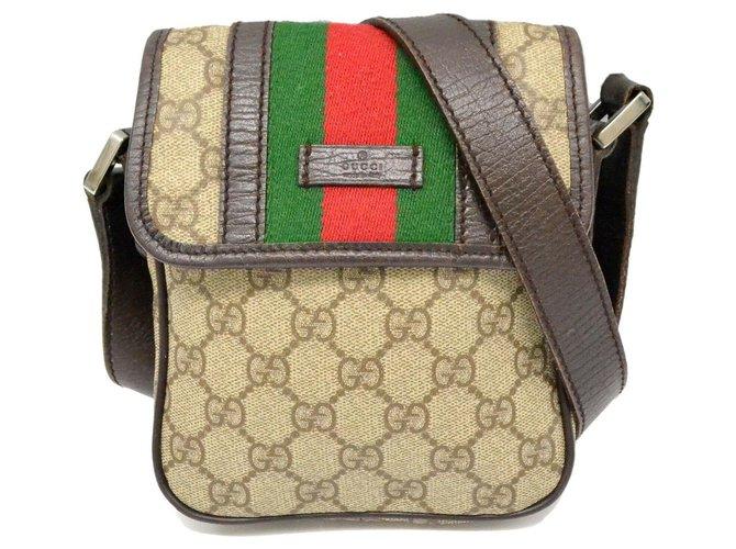 Gucci Gucci Sherry Line GG Shoulder Bag Handbags Cloth Brown ref.169168