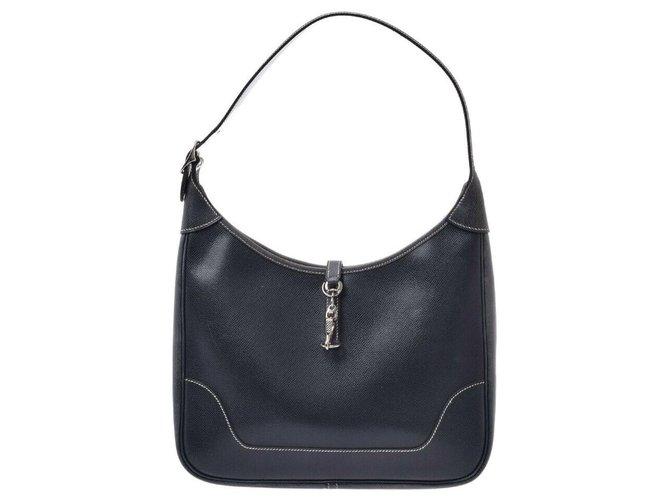Hermès Hermès Trim 31 Handbags Leather Blue ref.169188