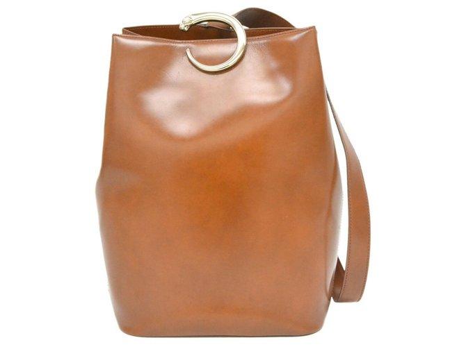 Cartier Cartier Panthère Handbags Leather Brown ref.169199