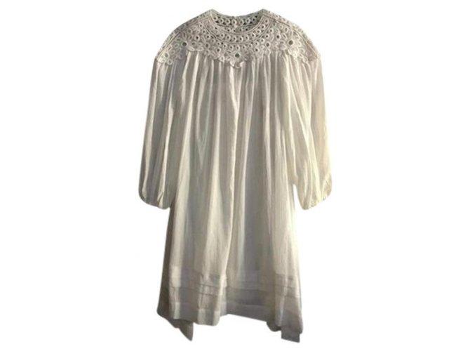 Isabel Marant Etoile Dresses Dresses Cotton White ref.169280