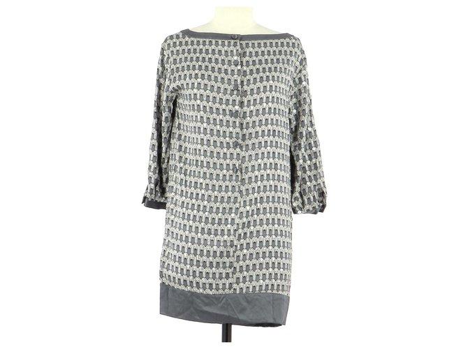 Pinko robe Dresses Silk Grey ref.169295
