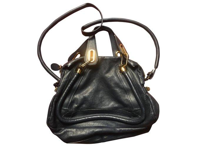 Chloé Chloé Paraty Handbags Leather Navy blue ref.169308