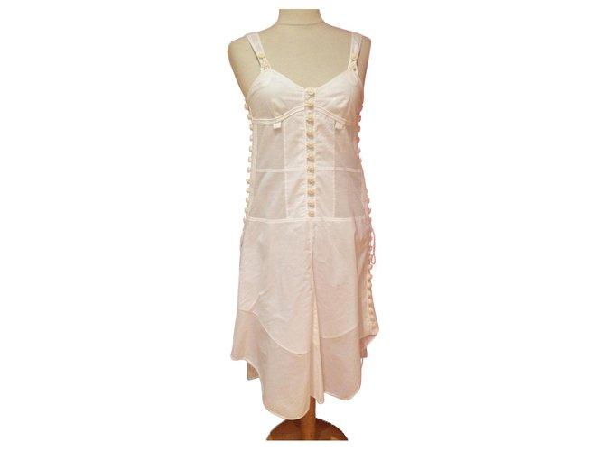 Chloé Dresses Dresses Cotton White ref.169327