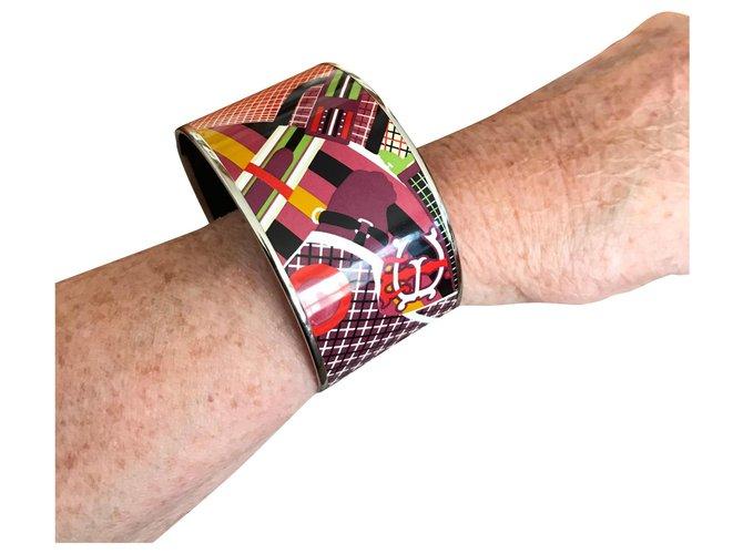 Bracelets Hermès jonc en émail Autre Multicolore ref.169333