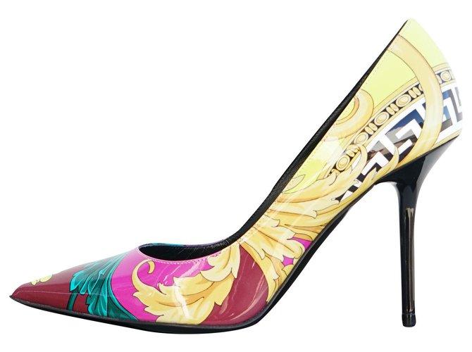 Versace Heels Heels Leather,Patent
