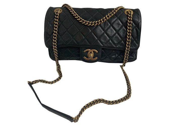 Sacs à main Chanel Chanel Cuir Noir ref.169788