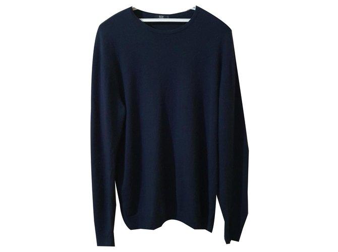 Autre Marque Sweaters Sweaters Silk,Cashmere Blue,Navy blue ref.169865