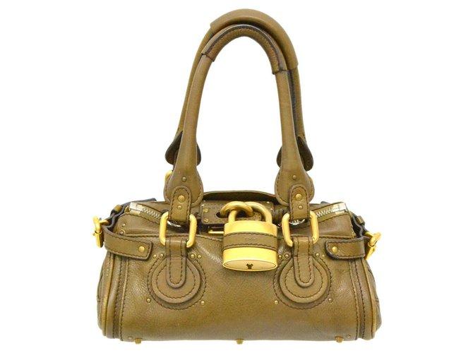 Chloé Chloé Shoulder bag Handbags Leather Yellow ref.169935