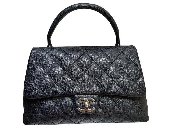 Chanel Chanel Coco Handbags Leather Black ref.170133