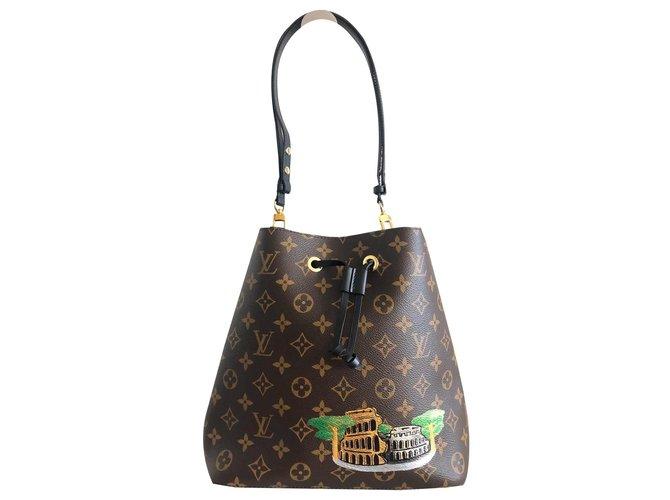 Louis Vuitton Louis Vuitton NeoNoé Colosseum Bag Handbags Leather,Cloth Brown ref.170154
