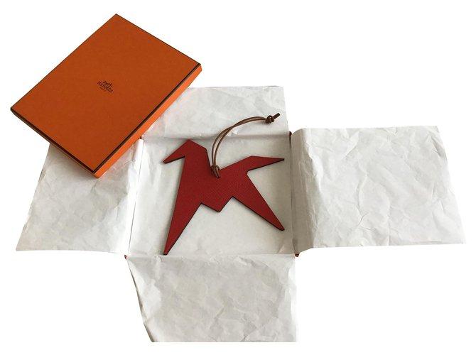 Bijoux de sac Hermès Bijou de sac Cuir Noir ref.170173