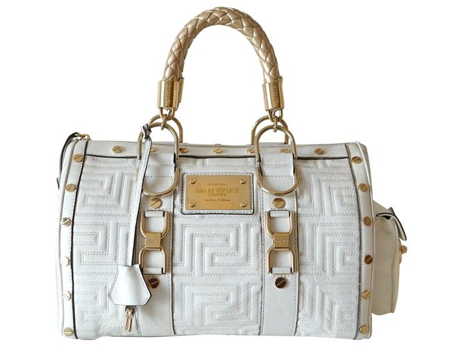 Versace Handbags Leather White
