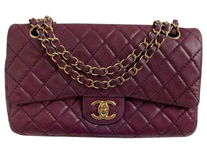 Chanel Chanel Handbags Leather Purple ref.170569