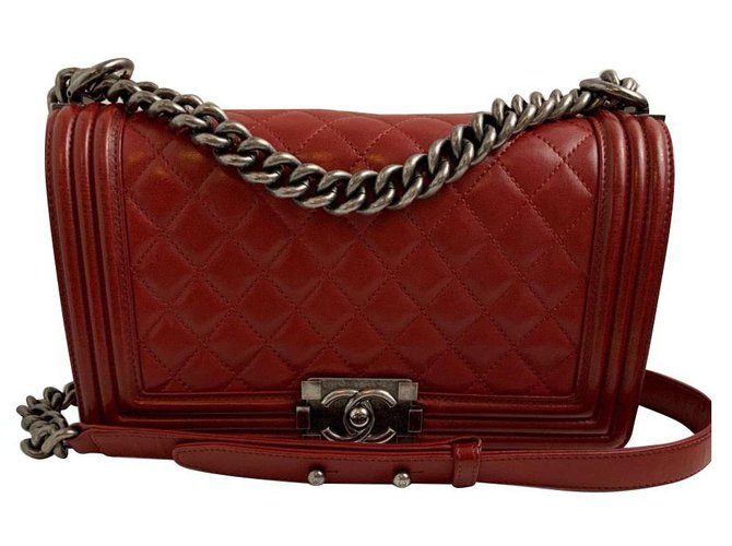 Chanel Chanel Handbags Leather Red ref.170570