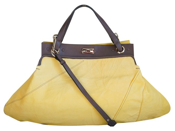 Chloé Handbags Handbags Leather Brown,Yellow ref.170658