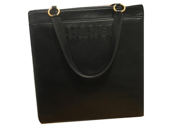 Sacs à main Chanel Sacs à main Cuir Noir ref.170684