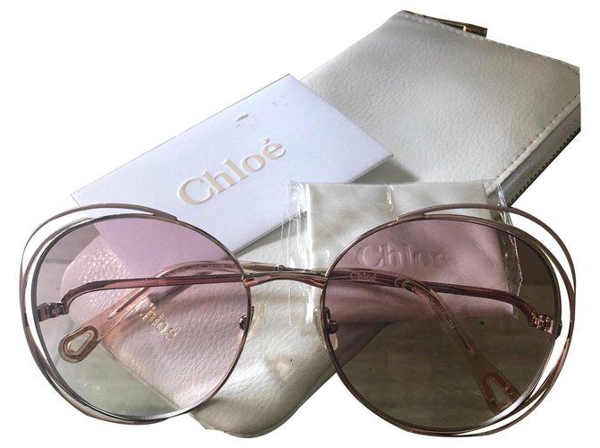 Chloé CE2138 730 56 18 140 Sunglasses Metal Golden ref.170724