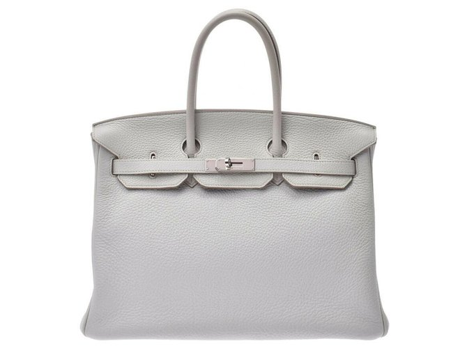 Hermès HERMES BIRKIN 35 Handbags Leather White ref.170902