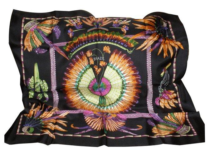 Hermès Silk scarves Silk scarves Silk Black ref.170929