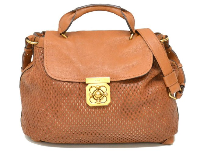 Chloé Chloé Elsie Leather Handbags Leather Brown ref.170937