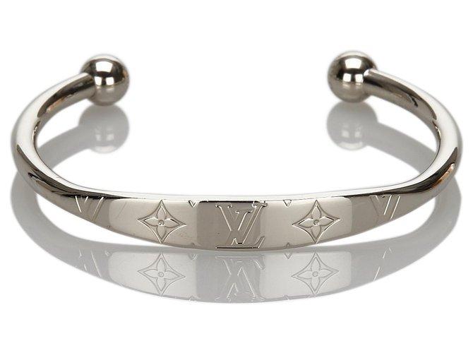 Bracelets Louis Vuitton Bracelet Jonc Monogram Argenté Louis Vuitton Autre,Métal Argenté ref.171058