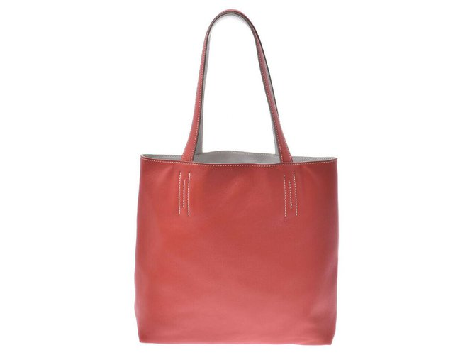 Hermès Hermès lined Sens 36 Handbags Leather Red ref.171116