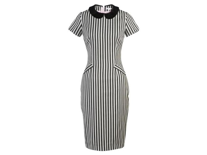 Olympia Le Tan Betty dress from Olympia Le-Tan t 40 Black White Wool  ref.171314
