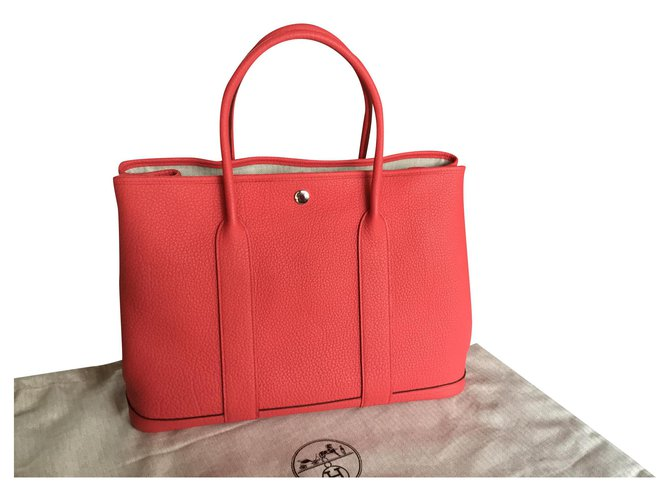 Hermès Hermès Garden Party 36 Handbags Leather Pink ref.171668