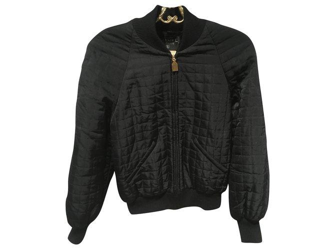 Chanel Jackets Jackets Silk Black ref.171708